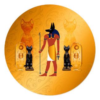 "Anubis, dios egipcio antiguo invitación 5.25"" x 5.25"""