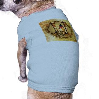 Anubis, dios egipcio playera sin mangas para perro