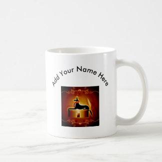 Anubis, dios egipcio taza básica blanca