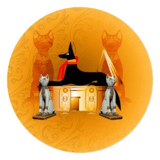 """Anubis, egipcio antiguo invitación 5.25"""" x 5.25"""""""