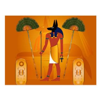Anubis, egipcio antiguo tarjeta postal