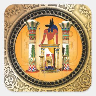 Anubis, egypt square sticker