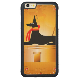 Anubis, Egyptian god Carved® Maple iPhone 6 Plus Bumper Case
