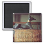 Anubis, Egyptian god of the dead 2 Inch Square Magnet