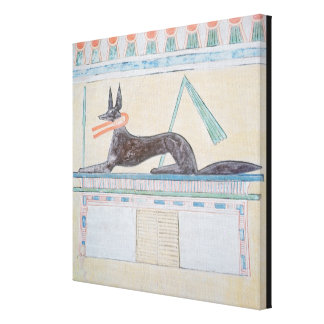 Anubis Egyptian god of the dead Canvas Prints