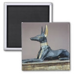 Anubis, Egyptian god of the dead from a chest 2 Inch Square Magnet