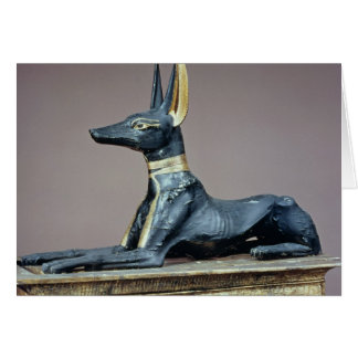 Anubis, Egyptian god of the dead from a chest Card