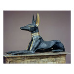 Anubis, Egyptian god of the dead from a chest Poster