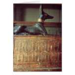 Anubis, Egyptian god of the dead Greeting Cards