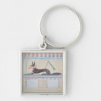 Anubis, Egyptian god of the dead Keychain