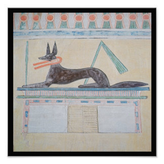 Anubis Egyptian god of the dead Print
