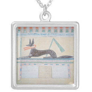 Anubis, Egyptian god of the dead Silver Plated Necklace