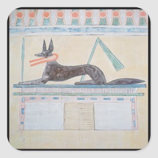 Anubis, Egyptian god of the dead Square Sticker