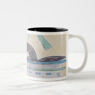 Anubis, Egyptian god of the dead Two-Tone Coffee Mug