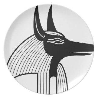 Anubis Egyptian God Dinner Plate