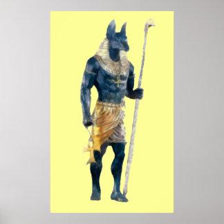 Anubis Egyptian God Poster