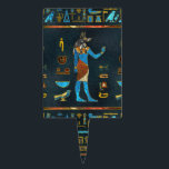 """Anubis Egyptian  Gold, Blue and Red glass Cake Topper<br><div class=""""desc"""">Anubis Egyptian  Gold,  Blue and Red glass</div>"""