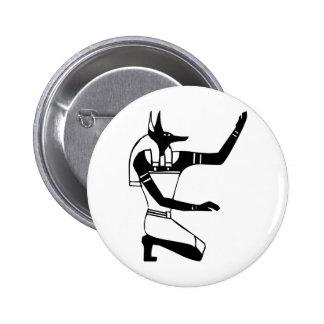 Anubis, Egyptian hieroglyph Button