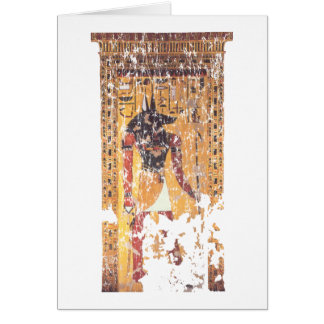 Anubis-Nefertari Tarjeta De Felicitación