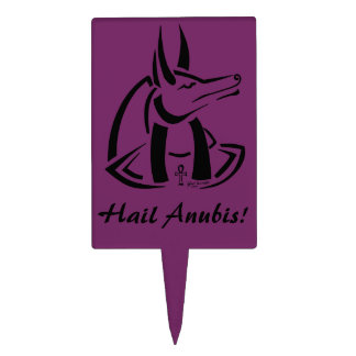 Anubis (negro) figura para tarta