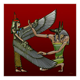 Anubis & Nut Poster