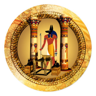 Anubis on golden background card