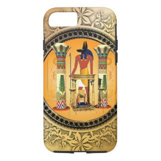 Anubis on golden background iPhone 7 case