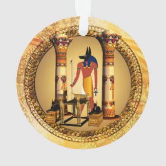 Anubis on golden background ornament