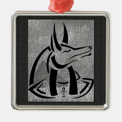 Anubis Premium Square Ornament