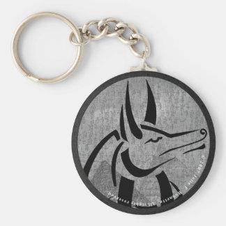 Anubis Round Keychain