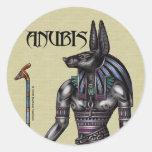 Anubis Round Sticker