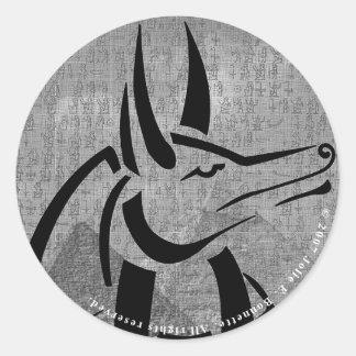Anubis Round Stickers