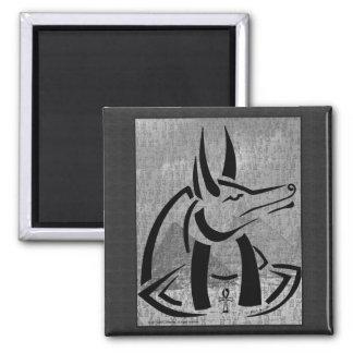 Anubis Square Magnet