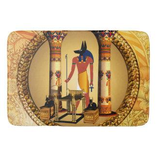 Anubis the egyptian god bathroom mat