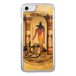 Anubis, the egyptian god carved iPhone 7 case