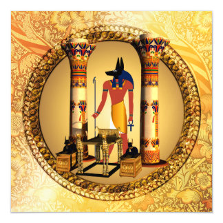 Anubis the egyptian god magnetic card
