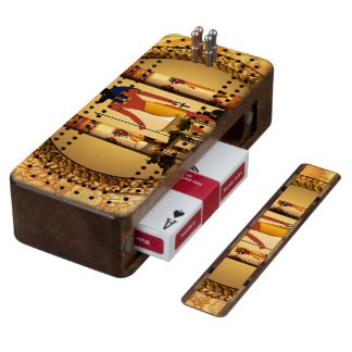 Anubis, the egyptian god wood cribbage board