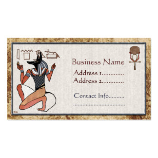 Anubis The Guardian Egyptian Double-Sided Standard Business Cards (Pack Of 100)