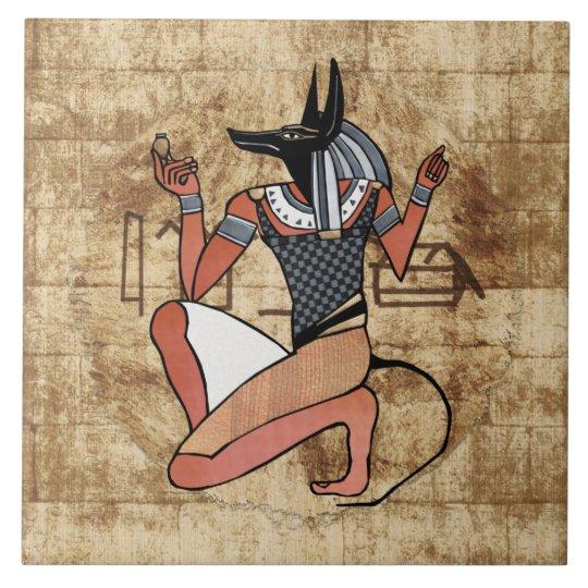 Anubis The Guardian Egyptian Tile