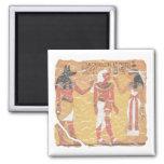 Anubis, Tut, Osiris 2 Inch Square Magnet