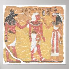 Anubis, Tut, Osiris Print