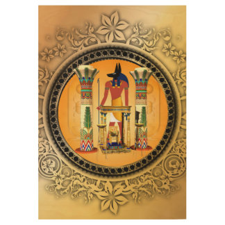 Anubis Wood Poster