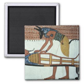 Anubis y una momia, de la tumba de Sennedjem Iman