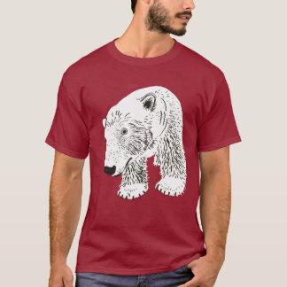 Anuk Polar Bear Climate Change Plain Dark T-Shirt