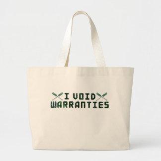 Anulo garantías bolsa de tela grande