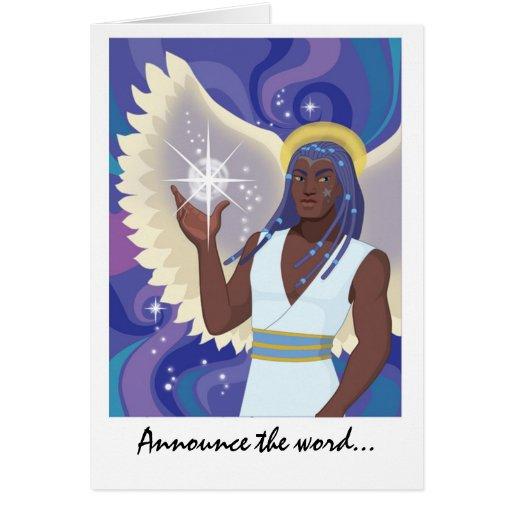 Anunciación de ángel tarjeton