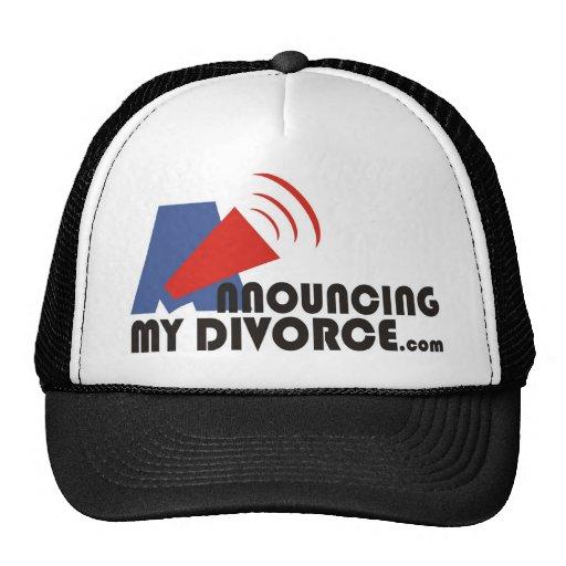 Anunciación de mi gorra del divorcio