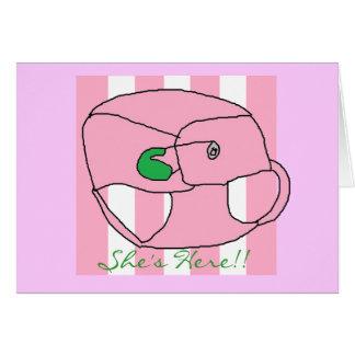 Anunciación de nuestra tarjeta de la niña
