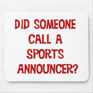 Anunciador de deportes Mousepad Alfombrillas De Ratones