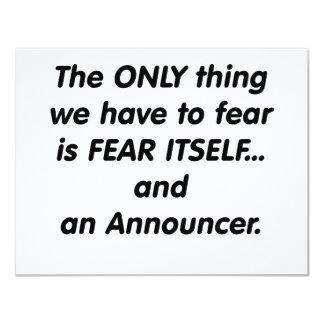 anunciador del miedo invitaciones personalizada